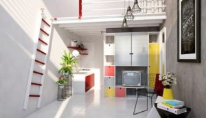 Phòng trọ đẹp với cách phối màu sơn ấn tượng